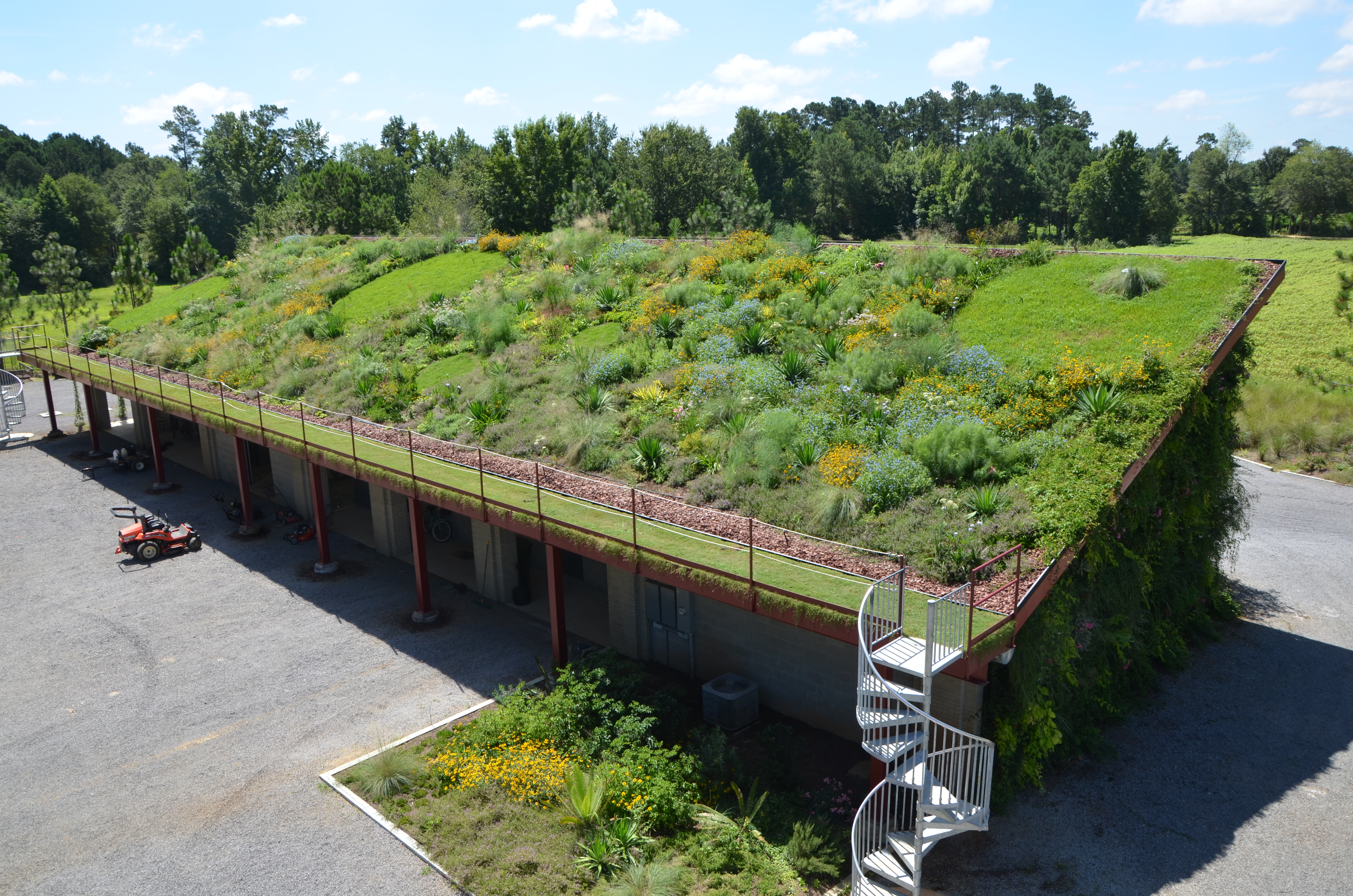 Green roof and living wall moore farms botanical garden for Landscape my garden